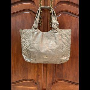 STUNNING ELLIOT LUCCA pewter leather handbag!! 👜